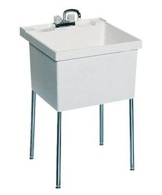 SWAN ST10000FM.001 Single Basin Floor Mount Utility Sink - Utility Sinks at Hayneedle