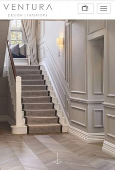 love molded parts! Especially climb up the stairs. I love molded parts! Especially climb up the stairs.,I love molded parts! Especially climb up the stairs. Stair Paneling, Panelling, Entrance Hall Decor, Flur Design, Tiled Hallway, Wainscoting Styles, Staircase Makeover, Hallway Designs, Hallway Ideas