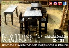 Another order, ready to go. Dark stained. Suitable for indoor & outdoor use. #naileditpallets #naileditpalletfurniture #nailedpalletfurnituredurban #custompalletfurniture #custompalletfurnituredurban #palletfurniture #palletfurnitureamanzimtoti #palletdiningtable #pallettable