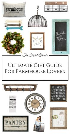 I am positive we all have one person on our shopping list that drools over anything that Chip and Joanna would put in their homes.  Here's my Ultimate Gift Guide For Farmhouse Lovers.