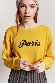 cab95cdb2e0 FOREVER 21 Paris Graphic Crop Top $12 Forever 21 Girls, Forever 21 Outfits,  Crop