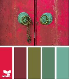 color combination - love this for an eclectic boho chic living room or den | Inspiring Spaces