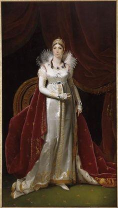 Joséphine de Beauharnais the first empress of France Josephine Bonapart. Chateau De Malmaison, La Malmaison, Empress Josephine, Napoleon Josephine, French History, Art History, French Royalty, Regency Era, Regency Dress