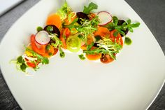 Summer Vegetable Salad, Citrus Crème Fraiche, Tarragon Puree - Looking for Summer Salad Suggestions? Try our recipe of the month by Chef Craig D'Cruze Creme Fraiche, Vegetable Salad, Summer Salads, Food Preparation, Caprese Salad, Vegetables, Recipes, Beautiful, Vegetable Salad Recipes