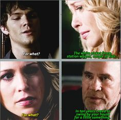 """In season 1 Mary apologizes to Sam. Three years later it is revealed what for. Three things that struck me about these scenes: Just how masterful the planning and foreshadowing was when Kripke was in charge. The """"for what"""" parallel. Mary and Sam both wanted out of the hunting life and by accepting Azazel's offer, Mary closed that door forever for Sam. There's no, """"I didn't know."""" There's no, """"I did what I had to."""" There's no, """"It's all Azazel's fault."""" Just, """"…I'm sorry."""" Click for GIFset"""
