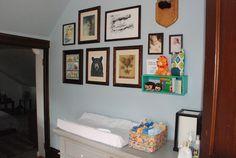 8 Tips For Decorating a Hip Nursery On a Budget | The Bump Blog ( I love the shadow box idea)