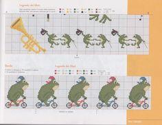 (1) Gallery.ru / Фото #3 - 17 - geminiana Cross Stitch Music, Cross Stitch Boards, Cross Stitch Baby, Cross Stitch Animals, Cross Stitch Patterns, Book Markers, Jungle Animals, Wild Animals, Tapestry Crochet