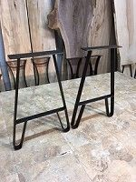 21 Inch Tall Steel Table Leg Set Flat Iron End Or Sofa Legs Raw Height X 10 Long Top Plate O 139
