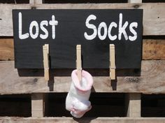 Laundry Room wood sign Lost Socks by YouSaidWhat on Etsy