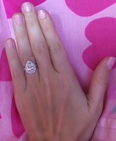 This is the best double-halo pear ring I've ever seen. I LOVE it.