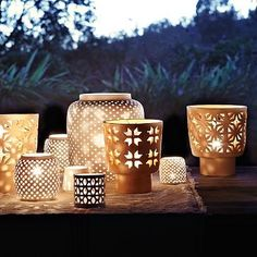 Porcelain Hurricane Candle Holders - http://www.cozybliss.com/porcelain-hurricane-candle-holders/