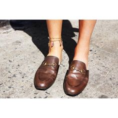 49c24888109 In My Cart  Pursuing the Perfect Slide Shoes (And a Styling Tip) - Man  Repeller. Brown Gucci LoafersLoafers ...