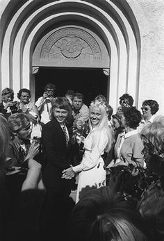 Bjorn and Agnetha's wedding, 1971 (ABBA)