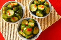 Spicy Pickled Cucumbers with Chili Oil
