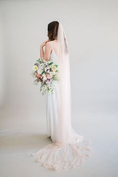 The Best Places To Buy Bridal Veils | OneFabDay.com Wedding Veils, Wedding Dresses, Bridal Veils, Old Hollywood Style, Wedding Fair, Pink Petals, Tulle Fabric, Wedding Images, Bridal Boutique