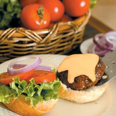 For the guys: beef burgers with beer cheese sauce.