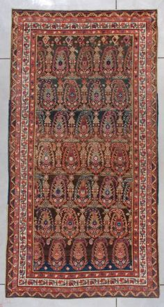 """Kazak 7284 Size: 5'3"""" X 10'4"""" Age: circa 1880 Price: $7500.00 - See more at: http://www.antiqueorientalrugs.com/caucasian.htm#sthash.hCOUOrkp.dpuf"""