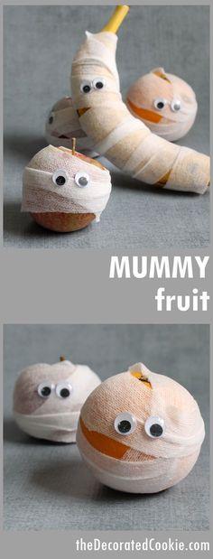 Healthy Halloween treat idea! MUMMY FRUIT!