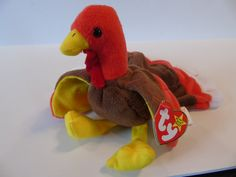 Ty Beanie Baby Gobbles The Turkey New With Tag Thanksgiving Turkey 11-26-96