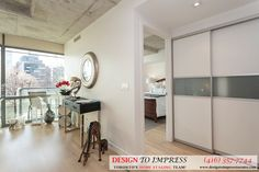 Condo hallway in Downtown Toronto, staged to sell for a high ROI via Toronto's home staging company, Design to Impress!