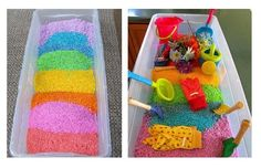 Как покрасить рис и макароны в разные цвета для поделок и игр