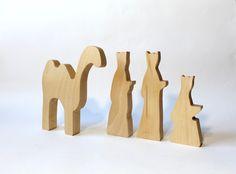 Stylish three wise men and a camel Modern three by LovingWoodCom