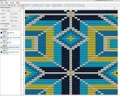 Bargello Patterns, Tapestry Crochet Patterns, Crochet Fabric, Loom Patterns, Beading Patterns, Inkle Weaving, Card Weaving, Crochet Cross, Crochet Chart