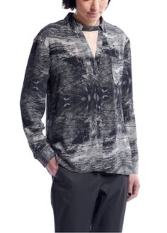 Silvae FW14 clothing tops blouses Black Poplar silk blouse