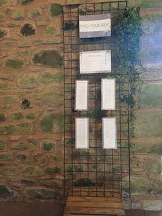 Table plan - barn wedding - Wedderburn Barns