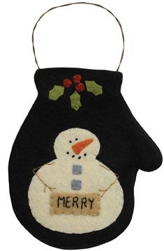 Merry Mitten Ornament