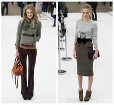 Burberry fall 2012 - Love the pic on the left!