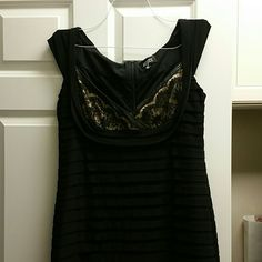 Adrianna pappell bandage like dress Great size 16 Adrianna pappell dress with lace  Great condition like new  Black with black lace over nude  Polyester spandex mix  Beautiful dress on Adrianna Papell Dresses