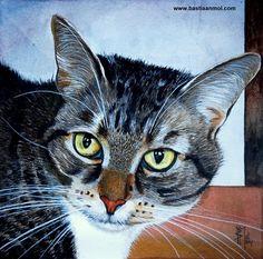 portrait of a cat by Bastiaan Mol
