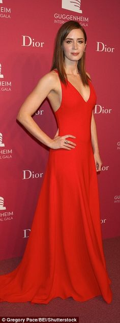 Actress Emily Blunt, 33, remained remarkably slender during her pregnancy this year, appea...