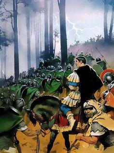 LaBatalla de Tapaefue un enfrentamiento decisivo de la primeraguerra dacia, en la que elemperador romanoTrajano derrotó al ejército del reydacioDecébalo invadiendo el reino enemigo. Angus McBride