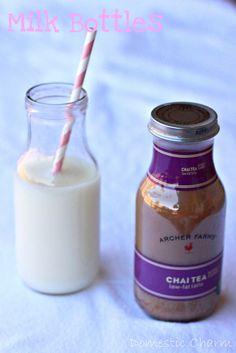 Glass Milk Bottles  from Target chai tea bottles