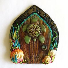 Sea Turtle Fairy Door Ocean Pixie Portal Sea Side by Claybykim