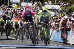 There was a last kilometer crash in stage 2 of the Santos Tour Down Under, but Tinkoff's Jay McCarthy took the win in Stirling ahead of Diego Ulissi (Lampre–Merida) and Rohan Dennis (BMC). McCarthy also has the overall lead.