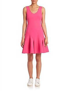 Derek Lam 10 Crosby Sleeveless Fit & Flare Dress