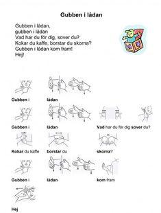 Mariaslekrum - Tecken. Learn Swedish, Swedish Language, Hama Beads Design, Preschool Songs, Sign Language, Pre School, School Supplies, Kindergarten, Singing