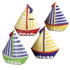 Baby boy nursery ideas by schwoebel on pinterest nautical nursery nautical baby showers and - Nautical piggy banks ...
