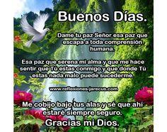 Buenos días, Gracias mi Dios por este nuevo día