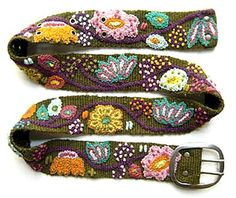 Embroidered belt | DiyReal.com