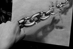 3d chain drawing by Kenn Skogli