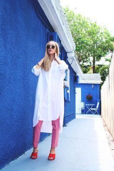 Davana $110   ~ #style #fashion #womenswear #cool #rose #white #whitebuttonup #fresh #electricblue #modeststyle #modestlooks #modestfashion #modern #florida #freshfinds #artdeco Poplin Dress, Style Fashion, Florida, Shirt Dress, Fresh, Lifestyle, Coat, Modern, Summer