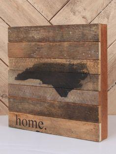 North Carolina Wooden Sign