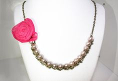 Flowers and Champagne Necklace