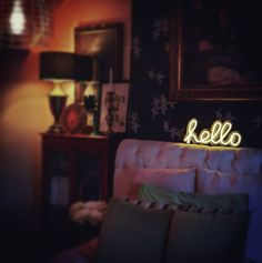 [New] The 10 All-Time Best Home Decor (Right Now) - Ideas by Angela Burns - Day 30 of is yes ANOTHER bedroom shot but I love my neon light and it makes this room so cosy . Lisa Thomas, Victorian Terrace, Eclectic Decor, Neon Lighting, Colorful Decor, Home Renovation, All About Time, Diy Home Decor, Bed Pillows