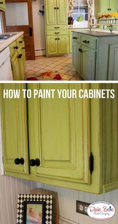 Learn how to paint your kitchen cabinets from Dixie Belle Paint Company. Read more on our blog now! #dixiebellepaint #bestpaintonplanetearth #chalklife #homedecor #doityourself #diy #chalkmineralpaint #chalkpainted #easypeasypaint #makingoldnew #whybuynew #justpainting #paintedfurniture
