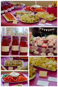Fairy Ballerina Food and Party Decorations.
